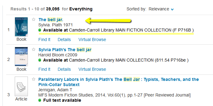 Book search results