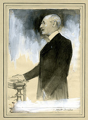 Color drawing of Alfred Dreyfus