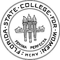 Florida State College for Women seal, three torches and name