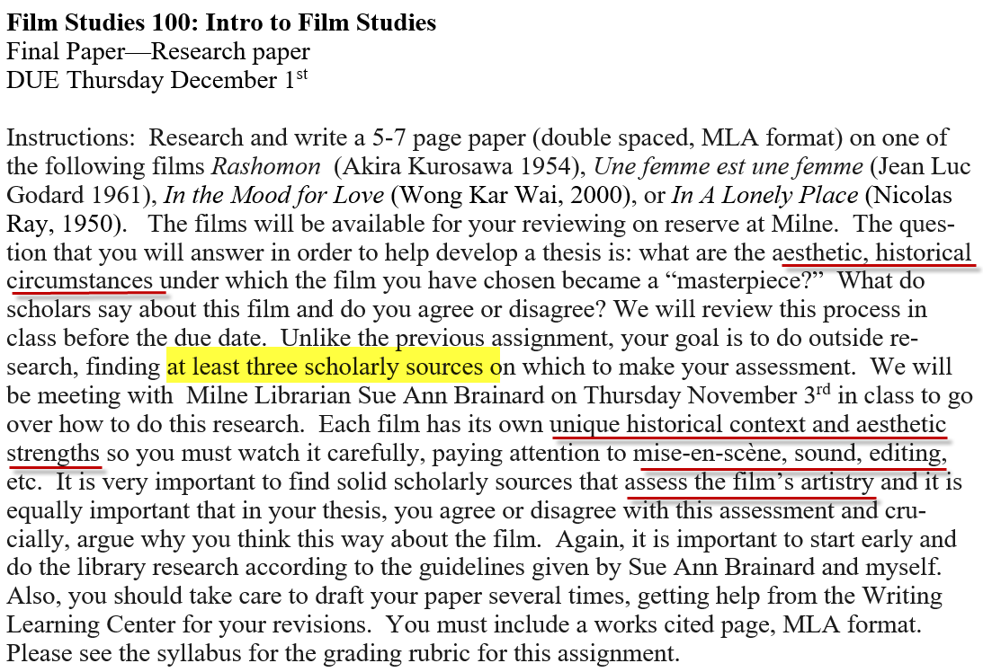 film analysis essay