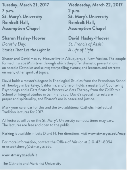 Dorothy Day & St. Francis of Assisi programs
