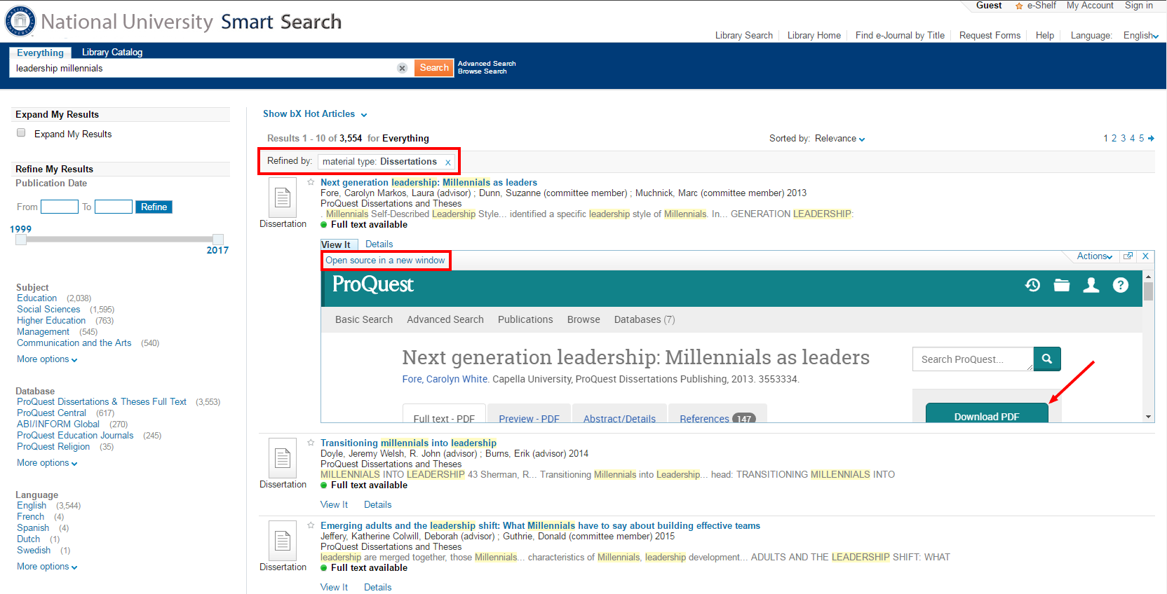 national university library blog research guides at national  proquest dissertations and theses now accessible through smart search