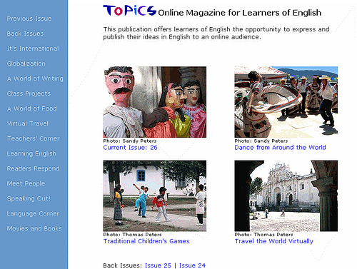 Topics Online Magazine for Learners of English