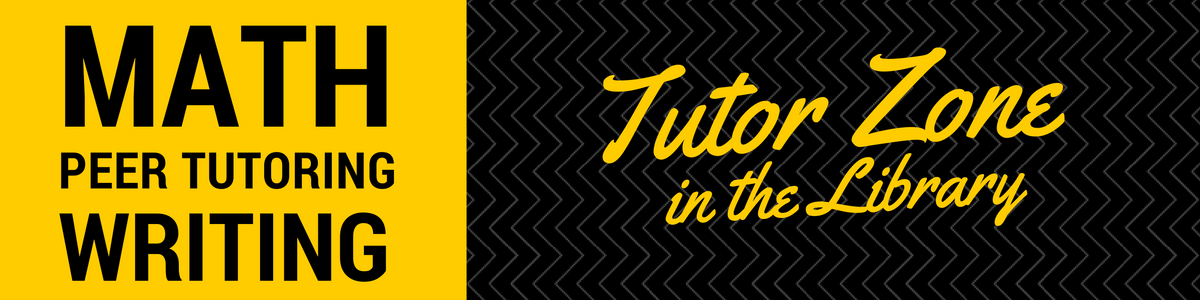 Math, Peer Tutoring, Writing: Tutor Zone in the Library