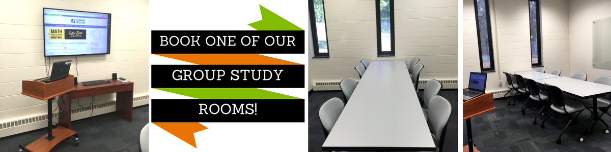Book one of our group study rooms!