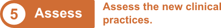 5. Assess: Assess the new clinical practices.