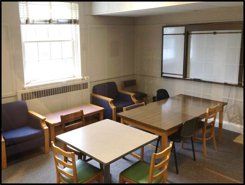 "The ""Conference Room"". One of the upper-leve study rooms."