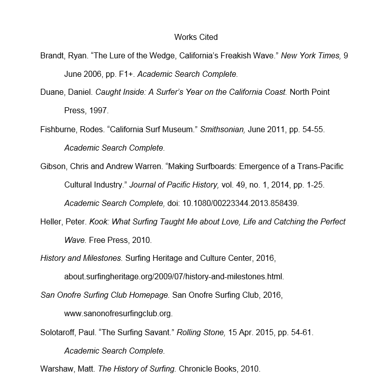 Works Cited List Sample - Citations - Research Guides at Monterey ...