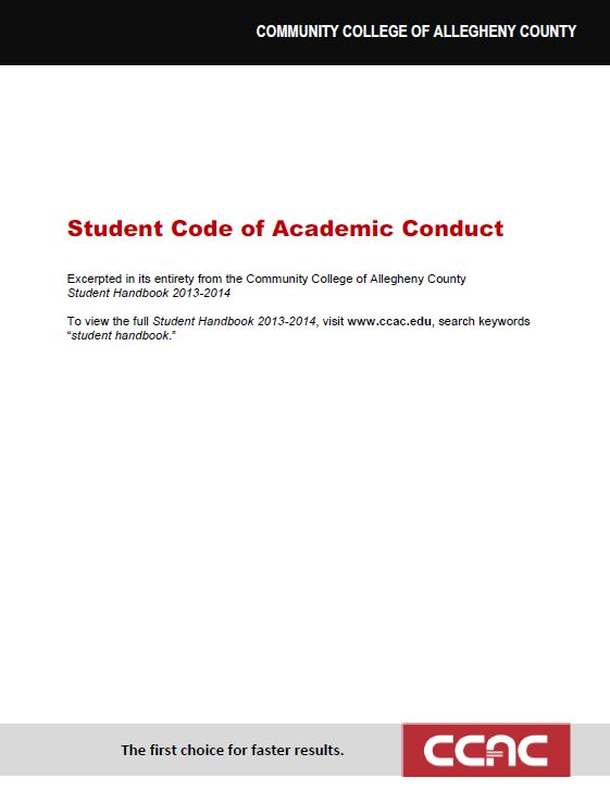 Student Code of Academic Conduct