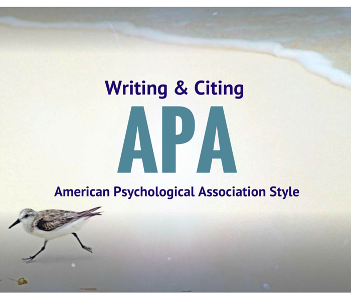 Front image of a seabird for the APA writing and citing section.
