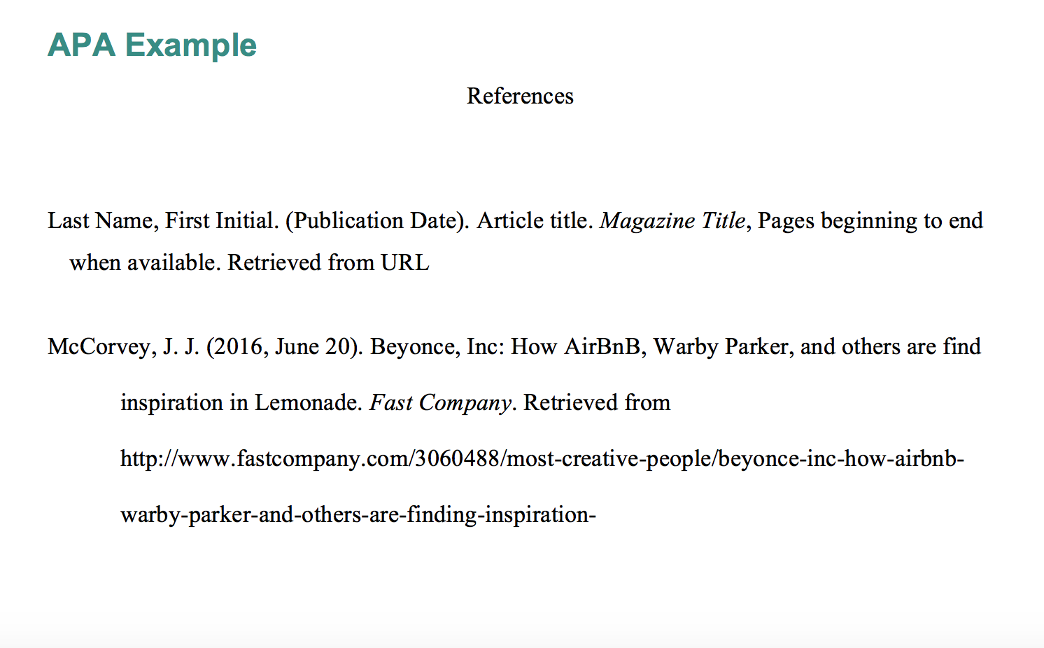 apa citation for magazine article