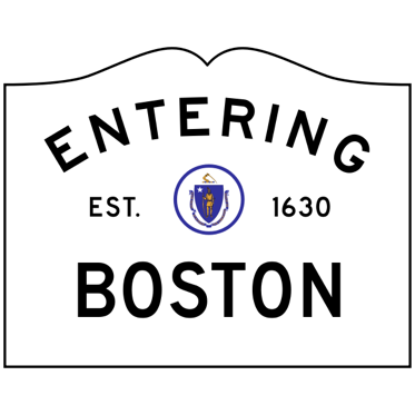 Entering Boston sign