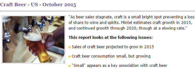 Craft Beer in US