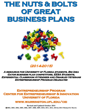 How to write a business plans