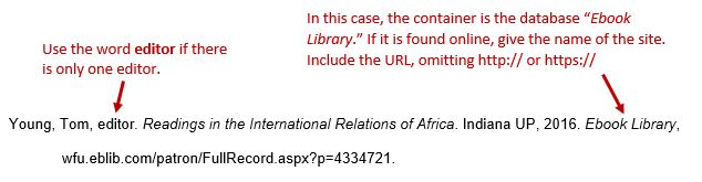 Books mla 8th ed style guide research guides at wake forest young tom editor readings in the international relations of africa indiana up ccuart Images