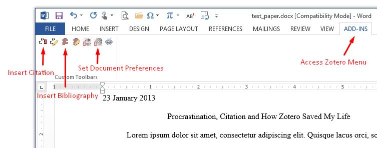 insert citations