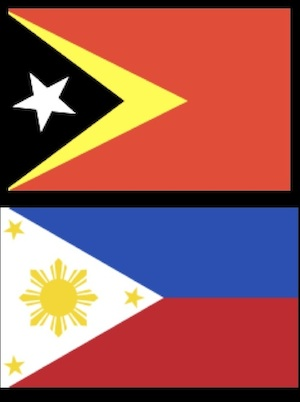 National Flags of Timor Leste and the Philippines
