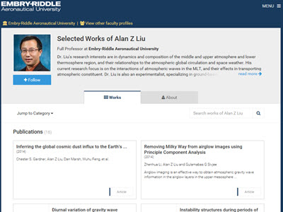 Dr. Liu's SelectedWorks Works page