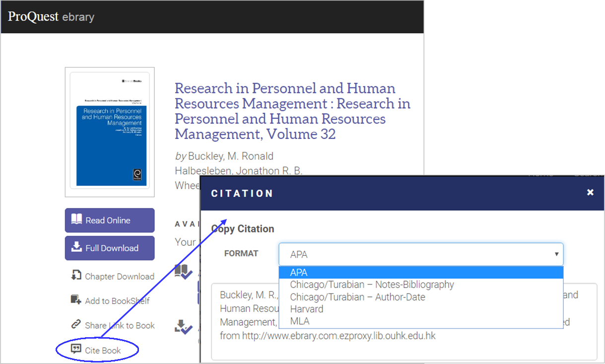 Proquest Ebrary Citation Feature How To Cite A Website
