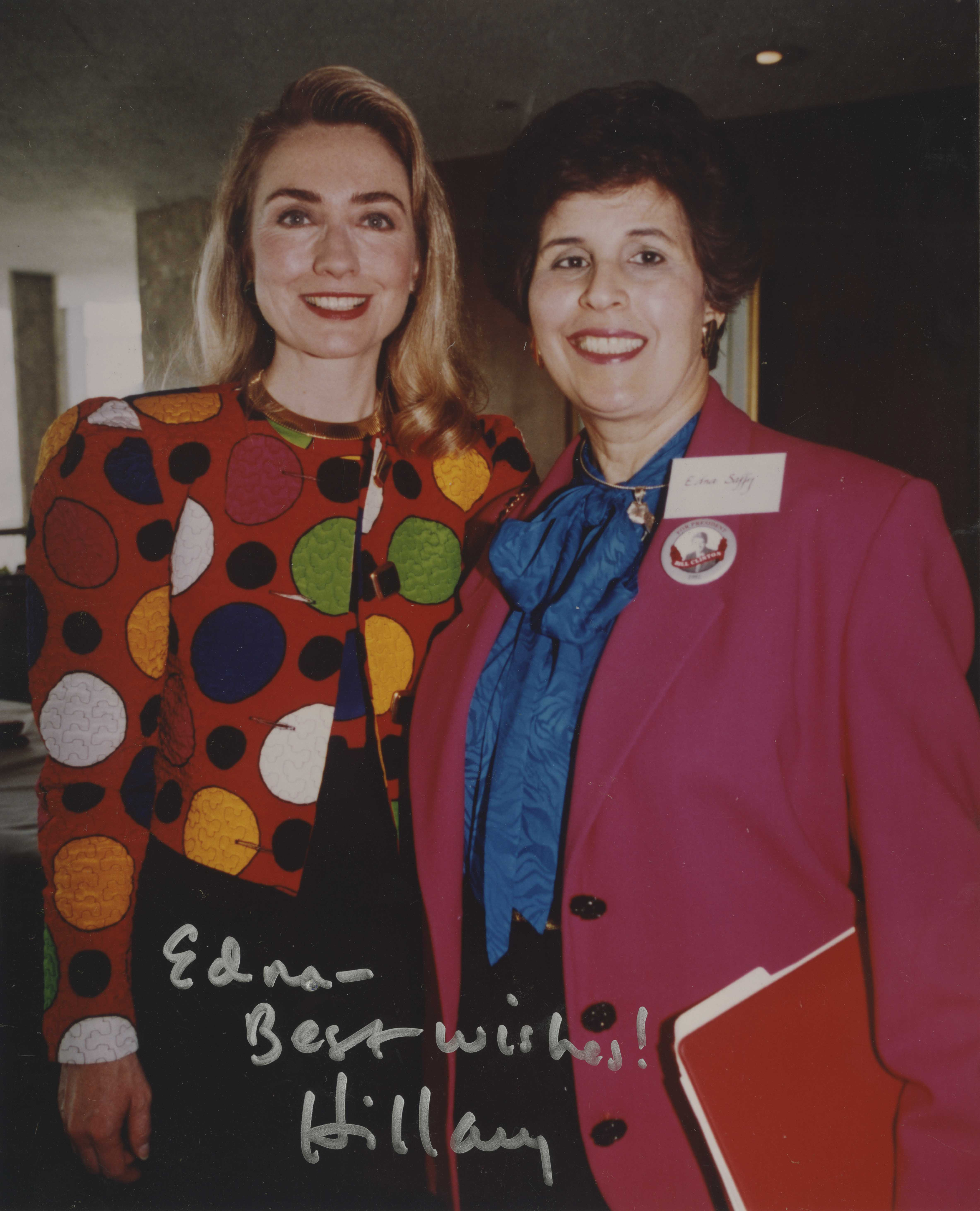 Photo of Saffy and Hillary Clinton