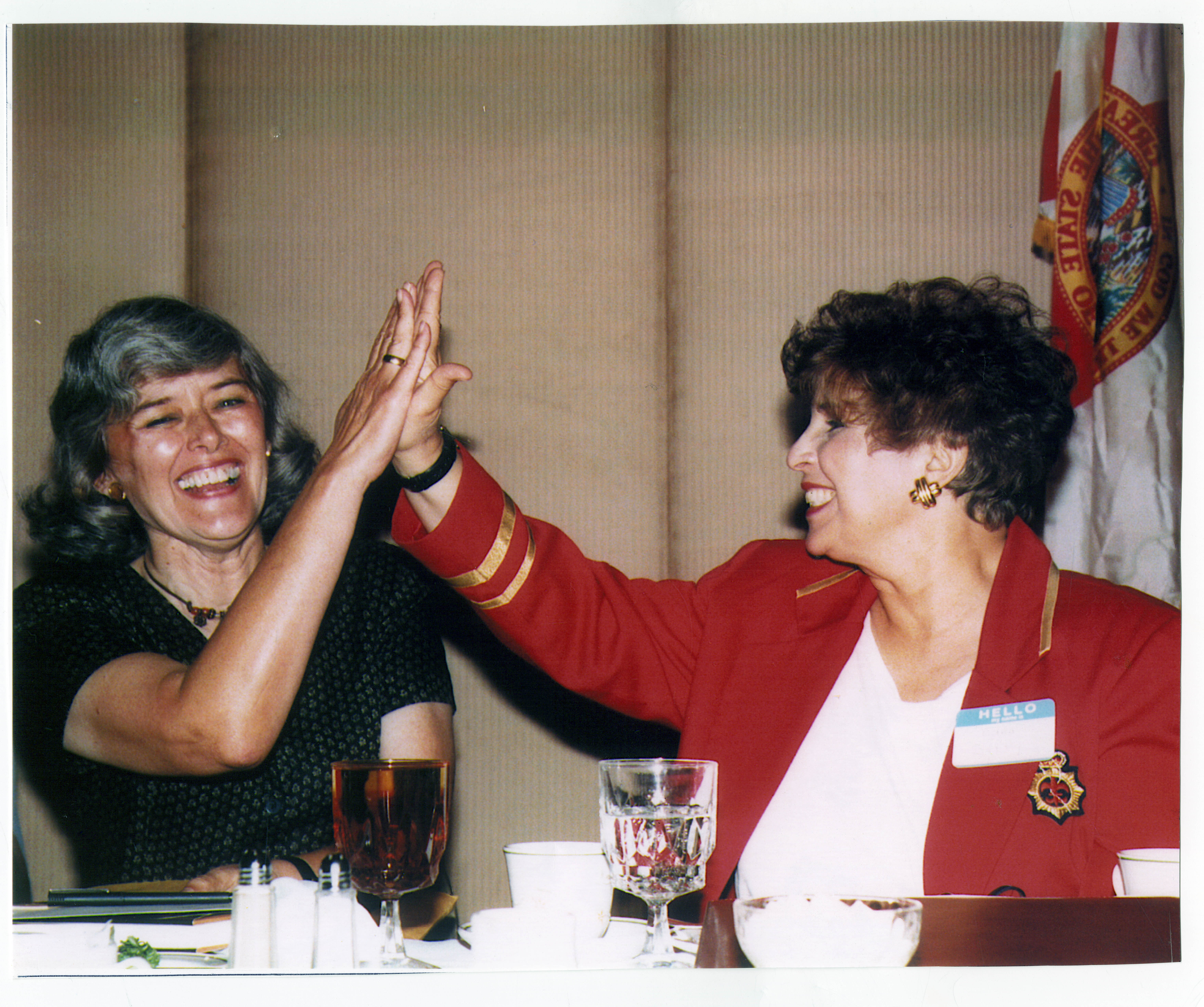 Photo of Saffy and Patricia Schroeder