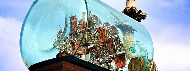 "Yinka Shonibare ""Nelson's Ship in a Bottle"""