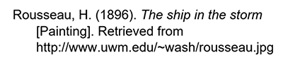 Citation for an imge from the free Web APA
