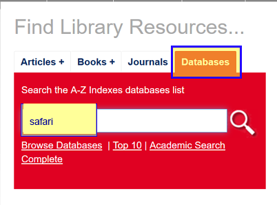 Database search box