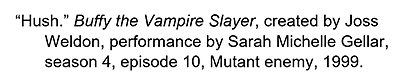 Citation for an episode in a TV Series