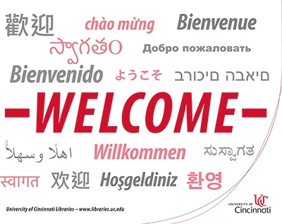 Welcome in several languages