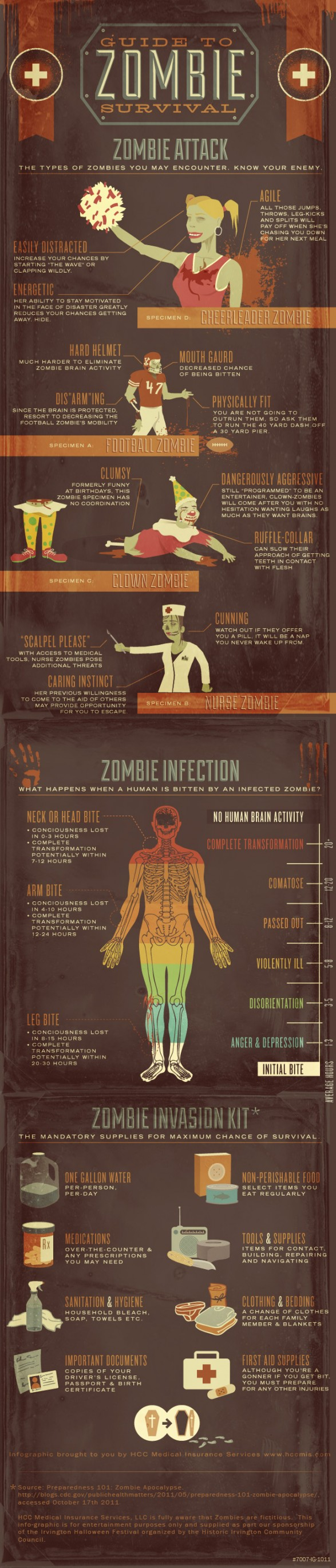 Guide to Zombie Survival Infographic