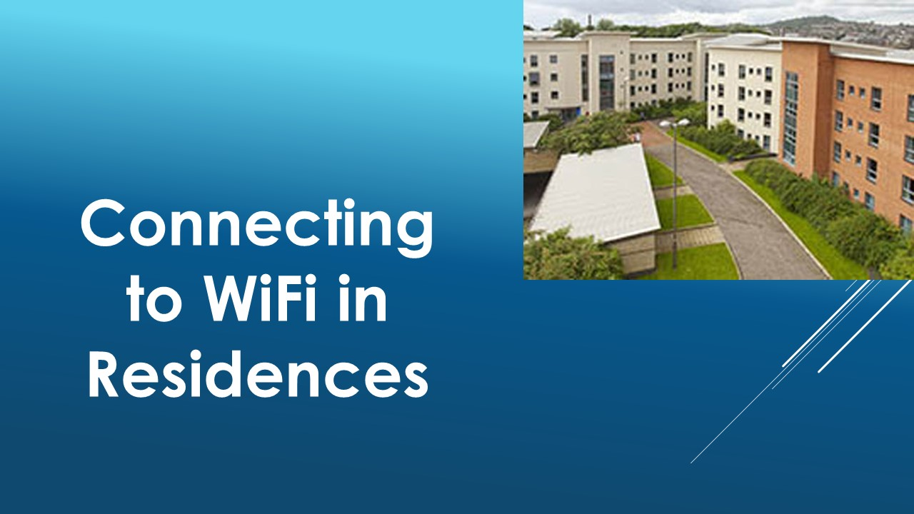 Connecting to WiFi in Residences