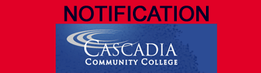 image - Cascadia College emergency alert