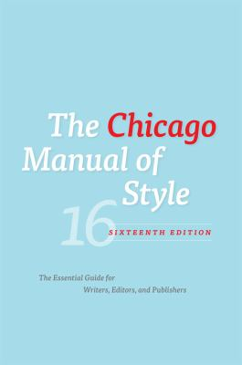 Chicago Manual of Style Book Cover