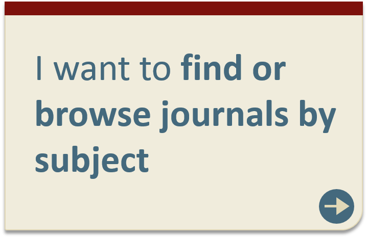 Find or browse journals by subject