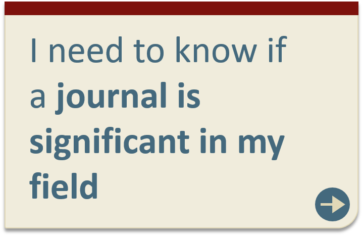Unsure if a journal is significant in my field