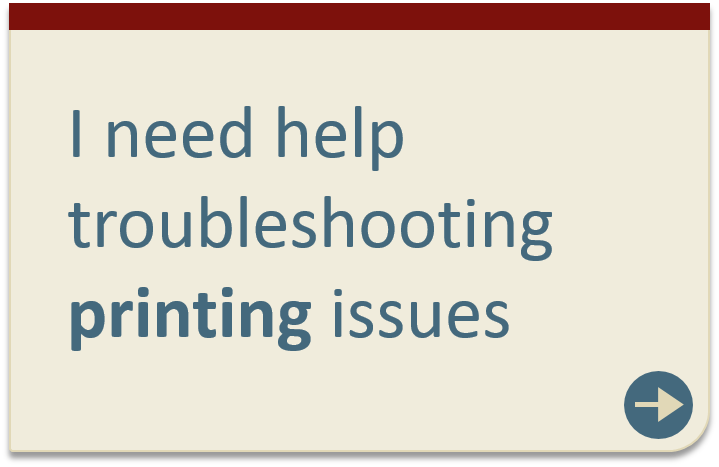 Troubleshooting printing issues