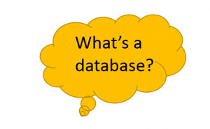 What's a database? Click here to find out