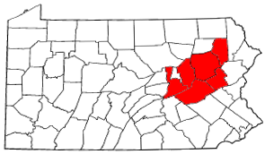 Map of Anthracite Coal Region, Pennsylvania