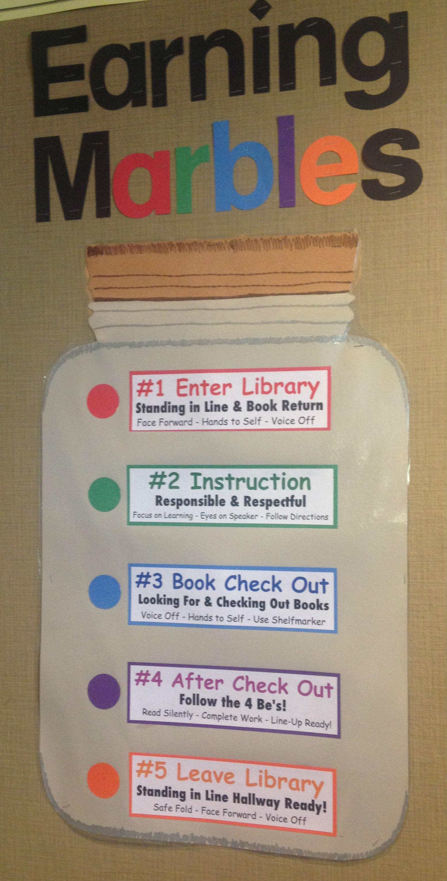 Classroom Marble Jar Ideas ~ November check it out libguides at omaha