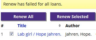 Loan renewal status