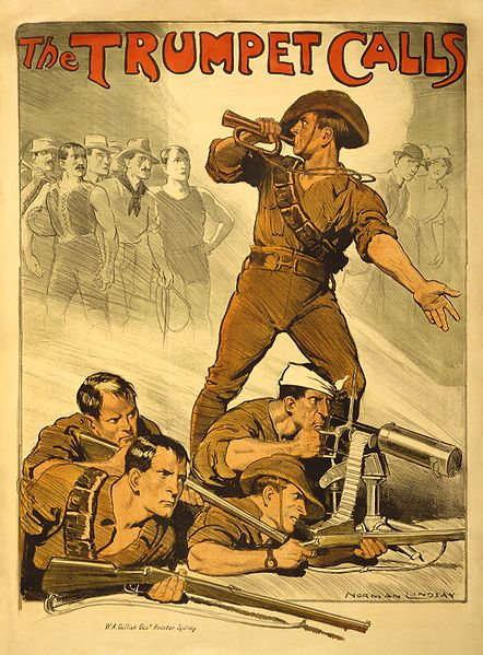 World War I Australian promotional poster encouraging men to join the army