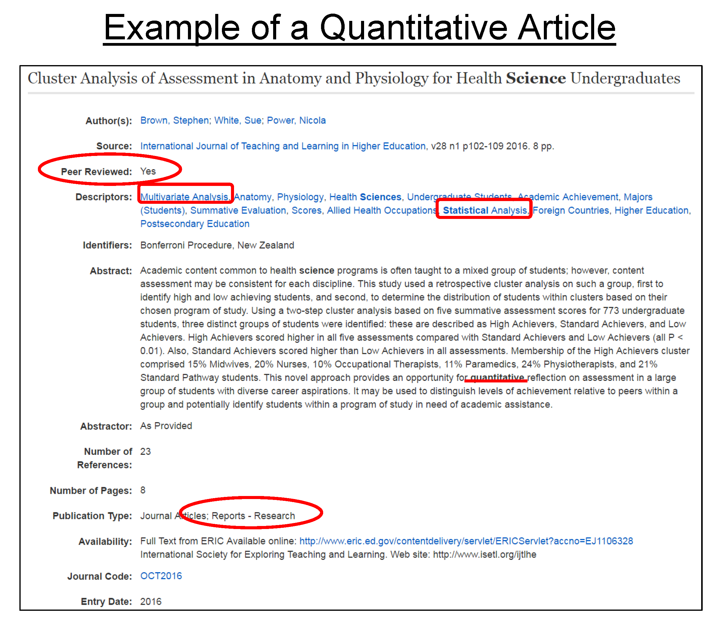 quantitative article review Sample of a literature review from a quantitative research paper note: the following is copyrighted material it consists of an excerpt from an article in progress.