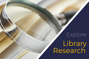 Research FAQ - click for answers to questions about the library