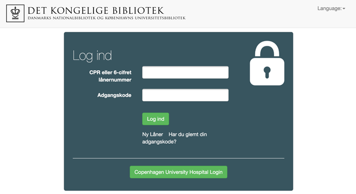 Copenhagen University Hospital Login KUB Nord Index at