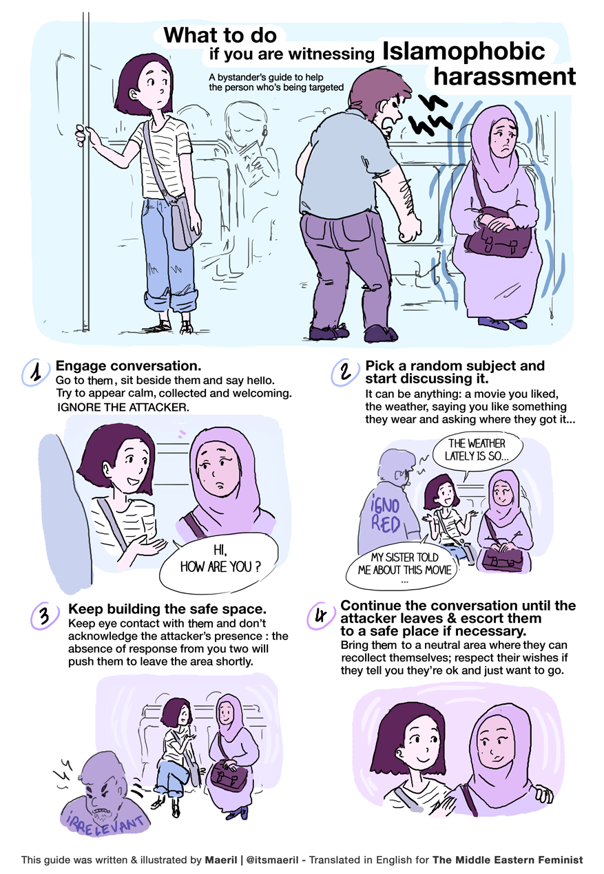 What to do if you are witnessing Islamophobic harassment