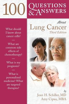 Book cover to 100 Questions and Answers about Lung Cancer
