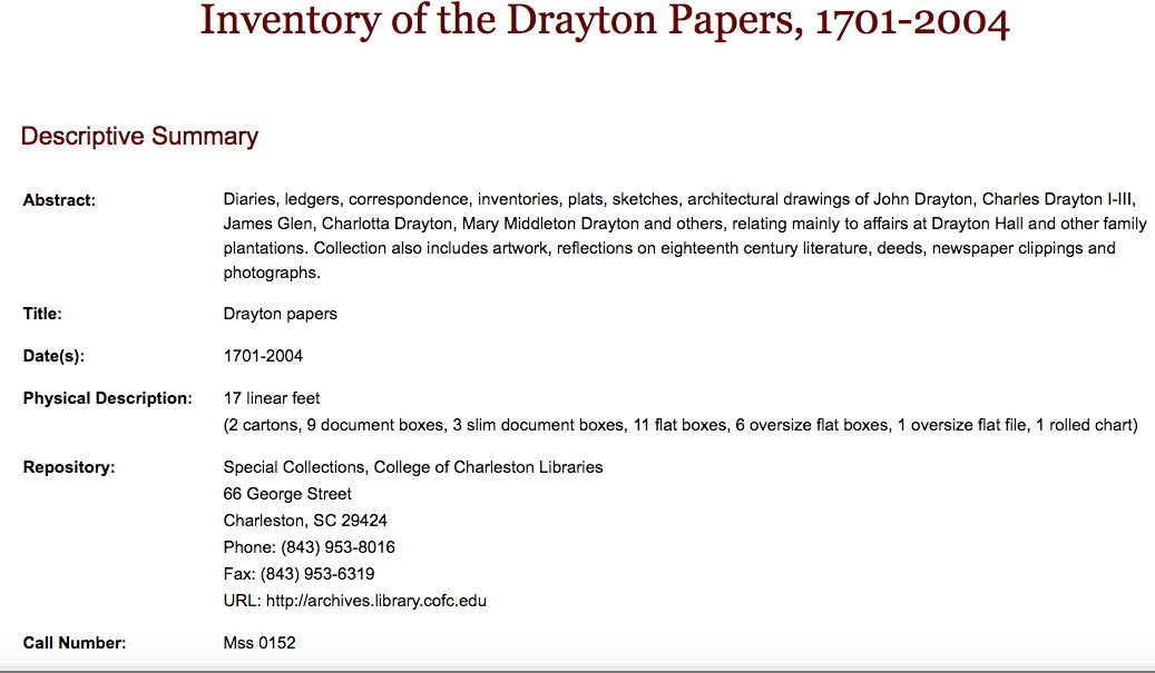 Catalog Record versus Finding Aid - HIST 450: Women in the ...