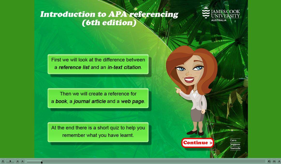Apa Tutorial From James Cook University