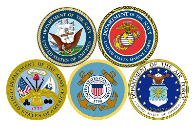 Seals for the branches of the military